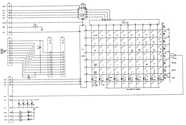 bbc model b keyboard circuit