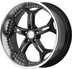 Helo HE834 Rims in Black Machined Finish