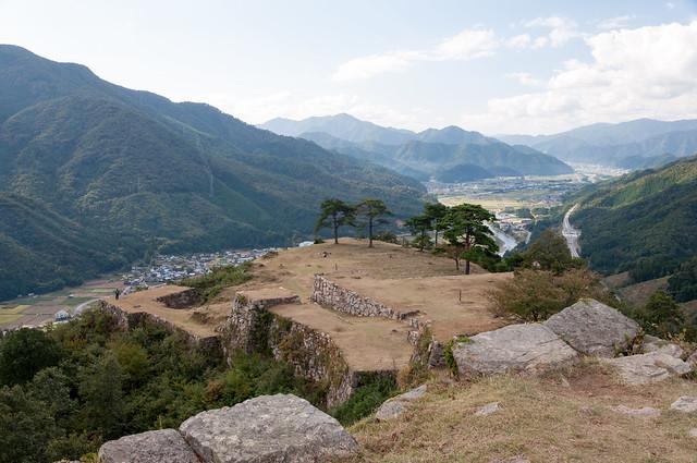 竹田城跡と下界
