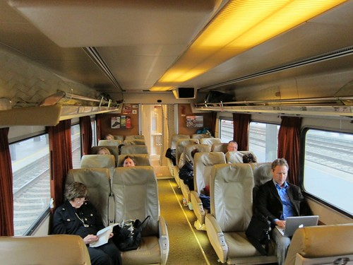 Amtrak Cascades talgo coach interior
