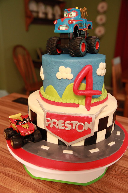 Cars birthday cake Cars cake for a 4-year-old boy s ...