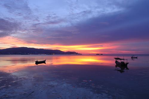 sunset malaysia lowtide penang 日落 北海 butterworth 黄昏 夕阳 pulaupinang 马来西亚 槟城 退潮 seberangperai baganajam