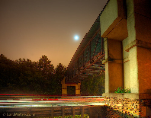 bridge moon landscape nightscape matre peachtreecity