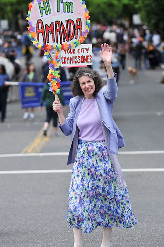 Amanda Fritz at Gay Pride parade