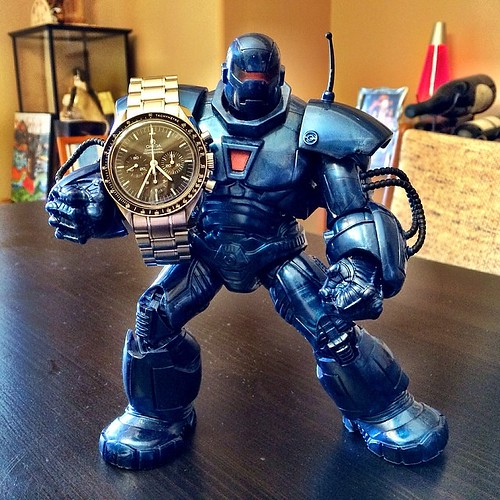 #Omega #Speedmaster Professional #Moonwatch with *ahem* action figure #geekmuch #wristwatch