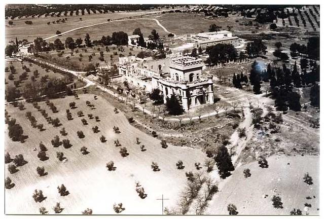 Vista aérea del Palacio de la Sisla en 1972 (c) Archivo Municipal 04 - FD-05-53-Año 1972