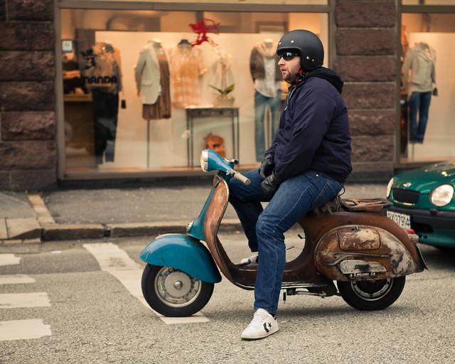 81 365 Vintage Vespa Dude Flickr Photo Sharing