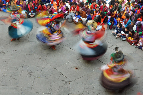 Festival dancers - Bhutan