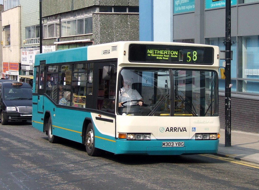 Arriva North West & Wales 603 M303 YBG, Liverpool 28th Apr 2007