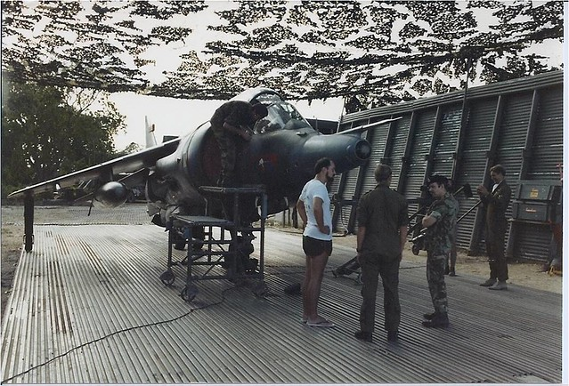 RAF Harrier, Airport Camp, Belize, Central America, 1982