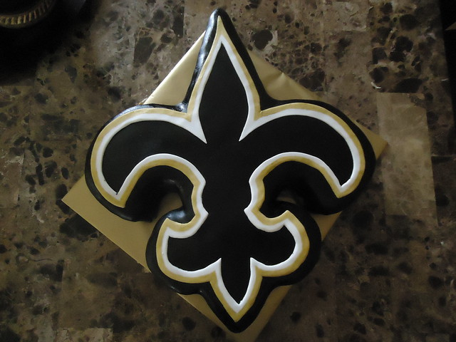 Saints Fleur De Lis http://www.flickr.com/photos/kasikakes/5586385441/