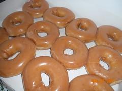 doughnut, glaze, baked goods, food, dessert, cuisine, snack food,