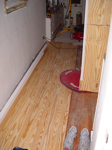 Floor Refinishing, Matching Old and New - Our Kitchen