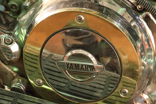 Yamaha motorcycle detail
