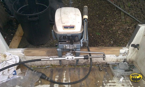 1971 Evinrude 25 Hp Tiller Conversion To Console Page 1