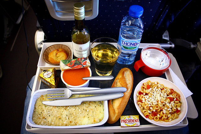 Dinner on flight AF 6