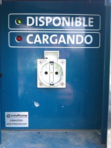 Punto de recarga eléctrica Plaza Ayuntamiento Valencia
