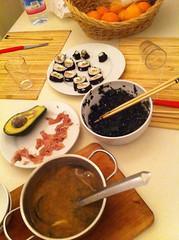 miso sushi sashimi home made