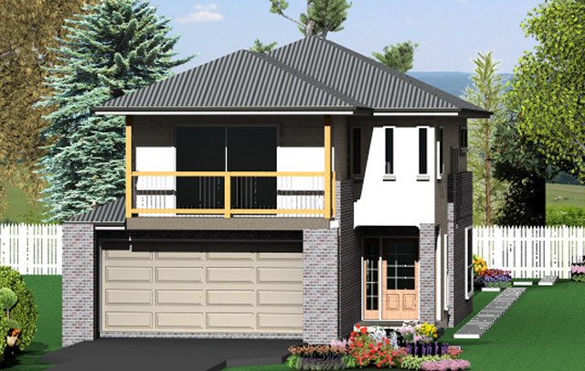 ONE STORY HOUSE PLANS FOR NARROW LOTS | House Plans By Category