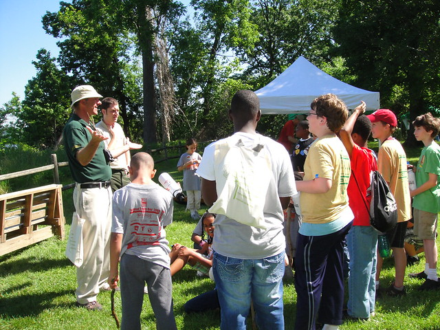 Kids get ready for a hike at the first National Kids to Parks Day at Mason Neck State Park in 2011