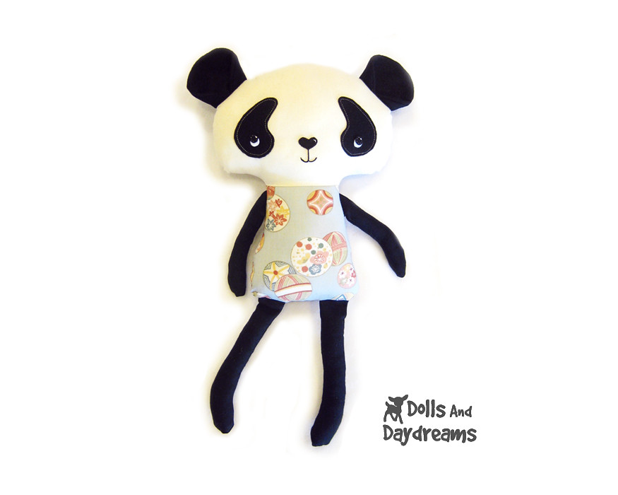 Panda kawaii cute softie toy sewing pattern 2 copy - a photo on ...