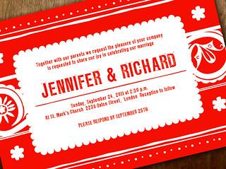 Printable Wedding Invitation - Papel
