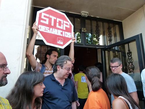 Protesta contra un desahucio