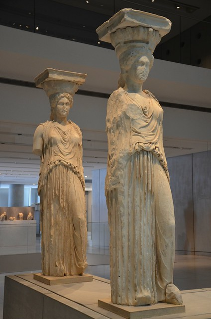 Caryatids from the Erechtheion on the Acropolis, Acropolis Museum, Athens