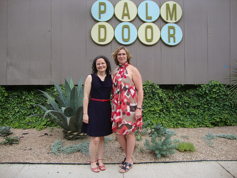 Connie and me at the Palm Door