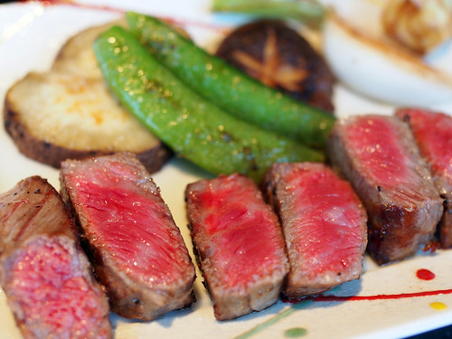 肉料理 | Japanese beef sirloin steak & Baked vegetable