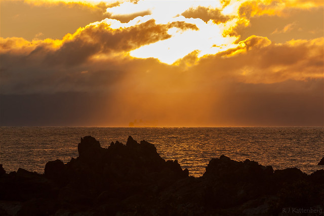 Cook Strait sunset.