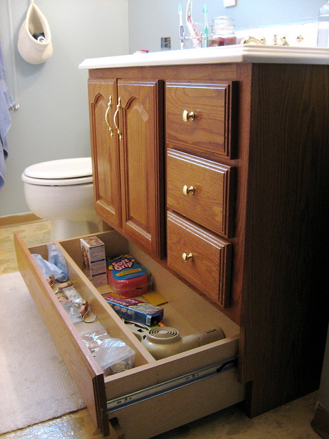 Bathroom vanity makeover with chalk paint decor adventures - Bathroom vanity with bottom drawer ...