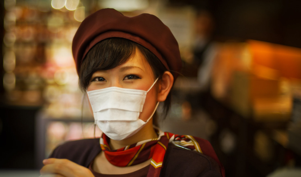 Japanese Girl with Mask