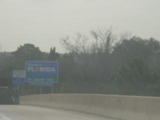 GA-FL State Border on I-95 Southbound