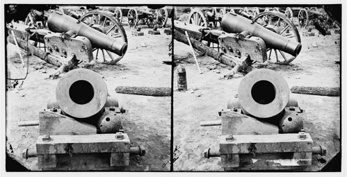 Broadway Landing, Appomattox River, Virginia. View of mortar and artillery (LOC)