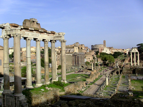 View of Forum from Capitoline Hill on Rome in A Day Tour with RomeCabs