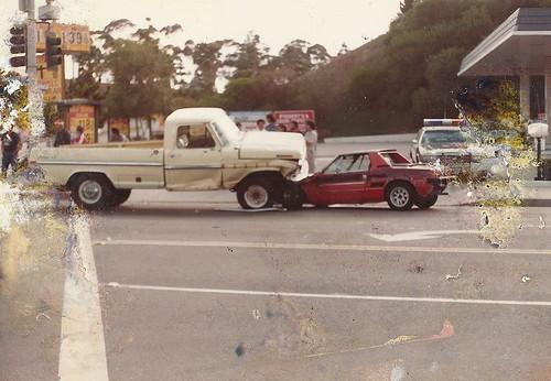 Fiat X1/9 crash