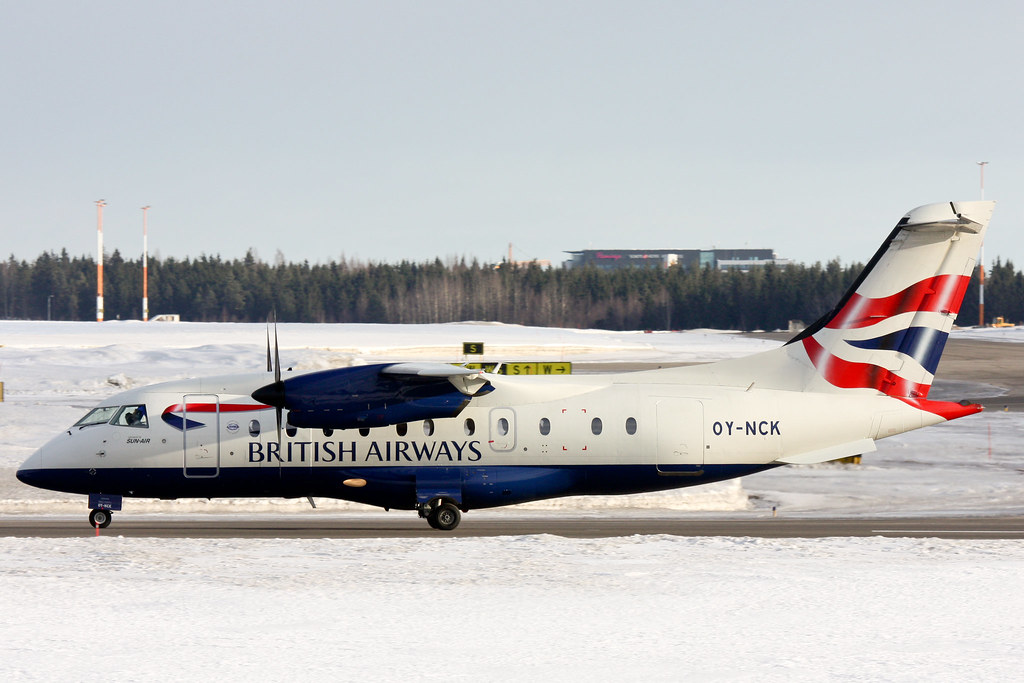 British Airways (Sun-Air of Scandinavia) - OY-NCK - Dornier 328-110