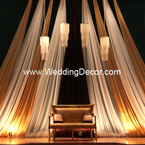 Brown And Gold Wedding Ideas: Wedding Backdrop - Gold, Brown & Ivory
