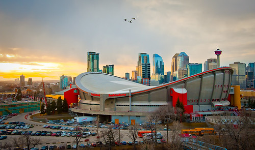 Sunset at Saddledome