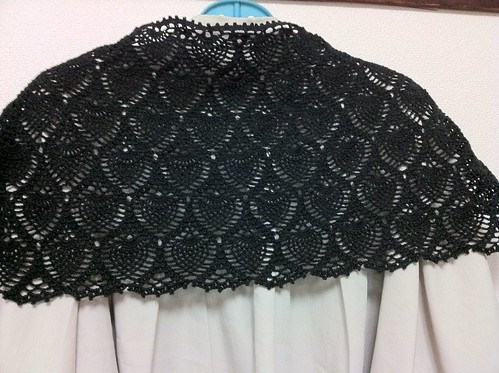 Crochet Lace Shawl by Garyou