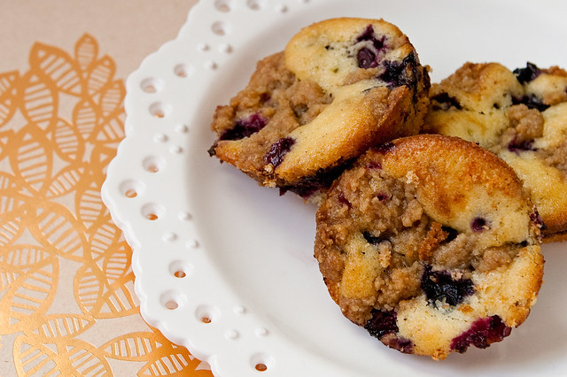 "Vanilla + Blueberry ""Crumb Cake"" 