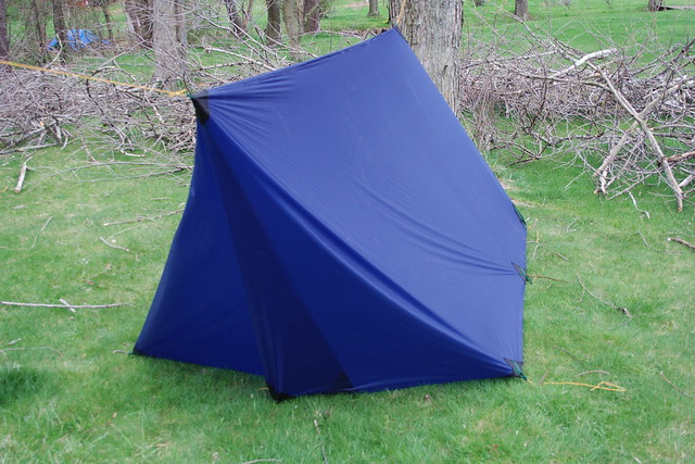 diy tarp tent: foul weather door | Flickr - Photo Sharing!