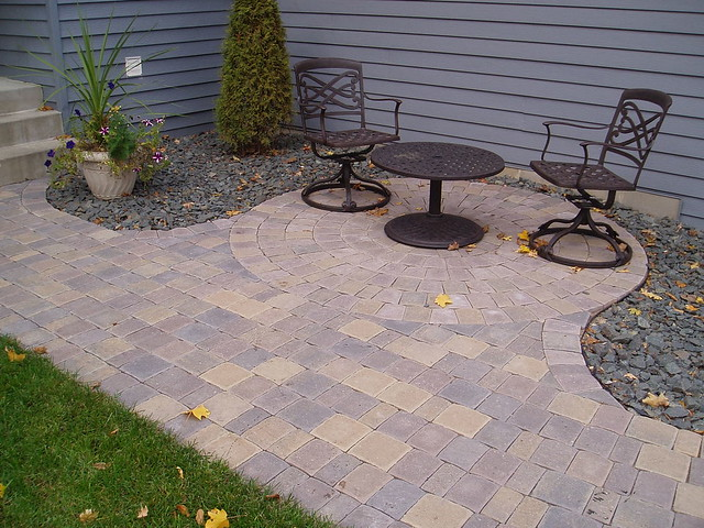 small paver bistro patio flickr photo sharing