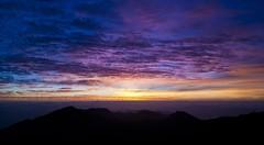 Sunrise over a volcano
