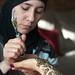 Khadija doing henna on Shazia