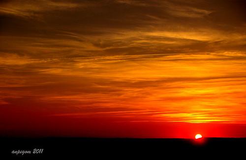 españa sol atardecer spain astro valladolid nubes rey ocaso castillayleón anpegom sanmartindevalveni