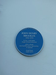 Photo of John Henry Brookes blue plaque