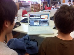 Peer editing student-created tutorials in tech class. Fun!