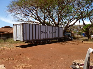 Container arrives at new home